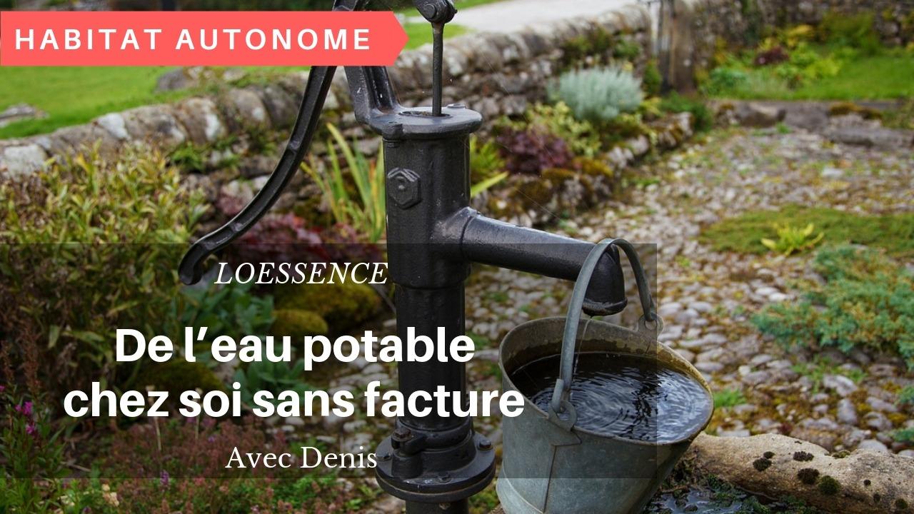 De L'eau Potable Chez Soi Sans Facture